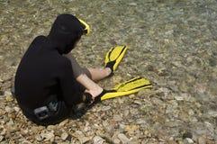 Mergulhador do mergulhador foto de stock royalty free