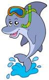Mergulhador do snorkel do golfinho Imagens de Stock Royalty Free