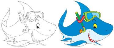 Mergulhador do tubarão Fotografia de Stock