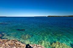 Mergulhador em Bruce Peninsula foto de stock royalty free