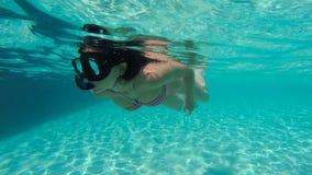 Mergulhador livre Imagem de Stock