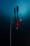 Mergulhador livre Fotos de Stock Royalty Free