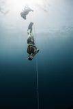 Mergulhador livre Imagens de Stock Royalty Free