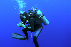 Mergulhador profundo Fotografia de Stock