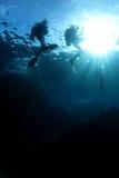 Mergulhadores fotos de stock