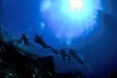 Mergulhadores imagens de stock royalty free