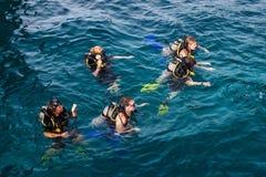 Mergulhadores de mergulhador Fotografia de Stock Royalty Free