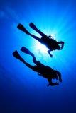 Mergulhadores do mergulhador Fotografia de Stock