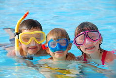 Mergulhadores felizes foto de stock