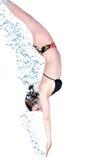 Mergulhando a mulher Fotos de Stock Royalty Free