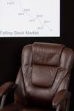 Mergulhando o mercado de valores de acção Imagens de Stock Royalty Free