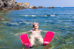 Mergulhar no mar Mediterrâneo Imagens de Stock