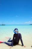 Mergulhar nos trópicos Fotos de Stock Royalty Free