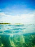 Mergulho abaixo no mar Imagens de Stock