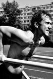 Mergulho da caixa no exercício atlético fotos de stock