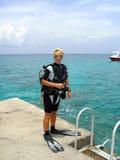 Mergulho da costa imagens de stock