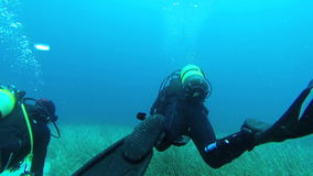 Mergulho da descoberta em Grécia video estoque