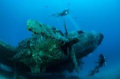 Mergulho da destruição do avião Foto de Stock