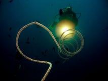 Mergulho da noite Fotos de Stock Royalty Free
