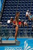 mergulho da plataforma 10m no campeonato do mundo de FINA foto de stock
