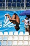 mergulho da plataforma 10m no campeonato do mundo de FINA fotos de stock
