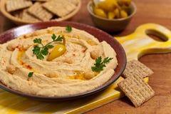 Mergulho de Hummus Fotos de Stock Royalty Free
