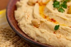 Mergulho de Hummus Fotografia de Stock
