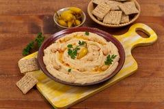 Mergulho de Hummus Imagens de Stock Royalty Free