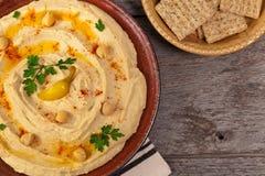 Mergulho de Hummus Imagem de Stock Royalty Free