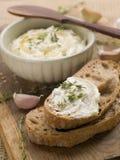 Mergulho de queijo Imagem de Stock Royalty Free