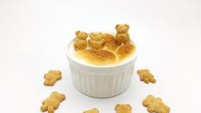 Mergulho de S'More com a cookie da forma do urso Imagens de Stock Royalty Free