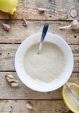 Mergulho do Aioli - mayonnaise de alho Imagens de Stock Royalty Free