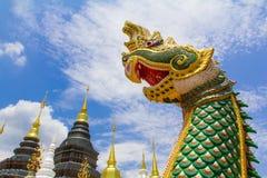 Mergulho do Naga no céu imagens de stock royalty free