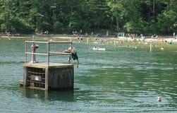 Mergulho em nenhuma zona do mergulho Fotografia de Stock Royalty Free