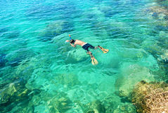Mergulho em Tailândia foto de stock