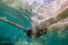 Mergulho livre da mulher Imagem de Stock Royalty Free