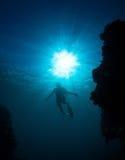 Mergulho livre das mulheres Foto de Stock
