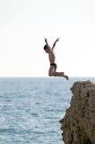 Mergulho no mar Foto de Stock Royalty Free
