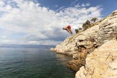 Mergulho no mar de adriático Foto de Stock Royalty Free