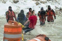 Mergulho polar 2014 de Chicago Fotos de Stock Royalty Free