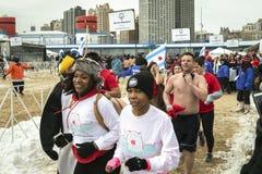 Mergulho polar 2014 de Chicago Imagens de Stock Royalty Free