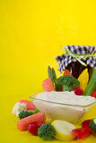 Mergulho vegetal saudável Fotos de Stock