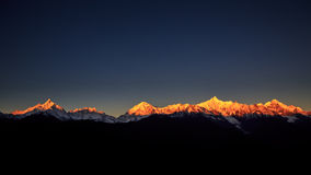 Meri Snow Mountain soluppgång Royaltyfria Foton