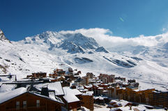 Meribel-Mottaret Ski Resort Stock Photography