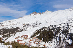 Meribel Ski Resort, Village of Meribel-Mottaret 1750 m Royalty Free Stock Photo