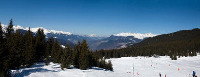 Meribel sky resort Stock Images