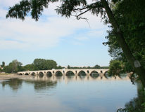 Meric桥梁在爱迪尔内,土耳其 图库摄影
