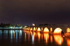 Meric Bridge em Meric River em Edirne, Turquia imagem de stock royalty free