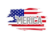 Merica usa flag sign illustration design Stock Images