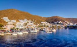 Merichas端起, Kythnos海岛, Cyclades,希腊 免版税库存照片